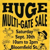 Image of Gate Sale 018. 09-30-1995 Bloomfield St. Between 12th + 13th Sts.