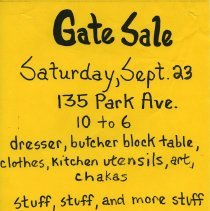 Image of Gate Sale 019. 09-23-1995 135 Park Avenue