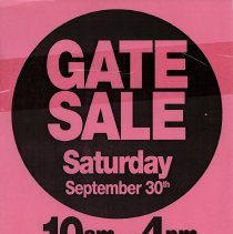 Image of Gate Sale 021. 09-30-1995 1108 Washington St.