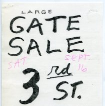 Image of Gate Sale 023. 09-16-1995 Third St. Between Garden & Park