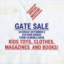 Image of Gate Sale 025. 09-09-1995 818 Park Avenue
