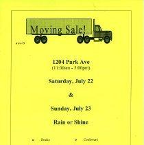 Image of Gate Sale 027. 07-22+23-1995 1204 Park Ave.