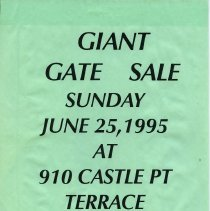 Image of Gate Sale 029. 06-25-1995 910 Castle Point Terrace