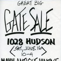 Image of Gate Sale 031. 06-16-1995 1028 Hudson St.