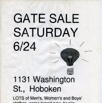 Image of Gate Sale 032. 06-24-1995 1131 Washington St.