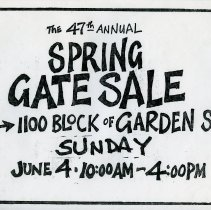 Image of Gate Sale 033. 06-04-1995 1100 Block Of Garden St.