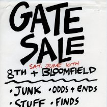 Image of Gate Sale 034. 06-20-1995 8th & Bloomfield