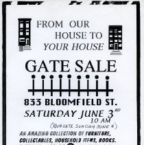 Image of Gate Sale 035. 06-03-1995 833 Bloomfield St.