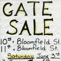 Image of Gate Sale 036. 06-03-1995 10th - 11th & Bloomfield St.