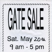 Image of Gate Sale 037. 05-20-1995 604 Adams St.