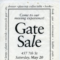 Image of Gate Sale 038. 05-20-1995 457 7th St.