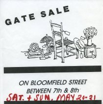 Image of Gate Sale 039. 05-20+21-1995 Bloomfield Between 7th & 8th