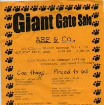 Image of Gate Sale 041. 03-29-1995 710 Clinton St. Arf & Co.