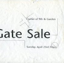 Image of Gate Sale 043. 04-23-1995 Corner 9th & Garden