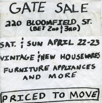 Image of Gate Sale 044. 04-22+23-1995 220 Bloomfield St.