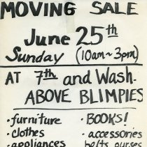 Image of Gate Sale 045. 06-25-1995 7th & Washington (above Blimpies)