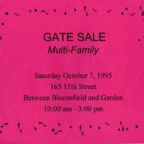Image of Gate Sale 048. 10-07-1995 165 11th St.