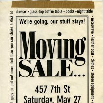 Image of Gate Sale 049. 05-27-1995 457 7th St.