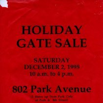 Image of Gate Sale 005. 12-02-1995 802 Park Ave.