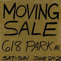 Image of Gate Sale 050. 06-24+25-1995 618 Park Ave.