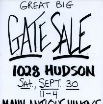 Image of Gate Sale 008. 09-30-1995 1028 Hudson St.