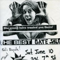 Image of Gate Sale 009. 06-20-1995 206 7th St. (artist)