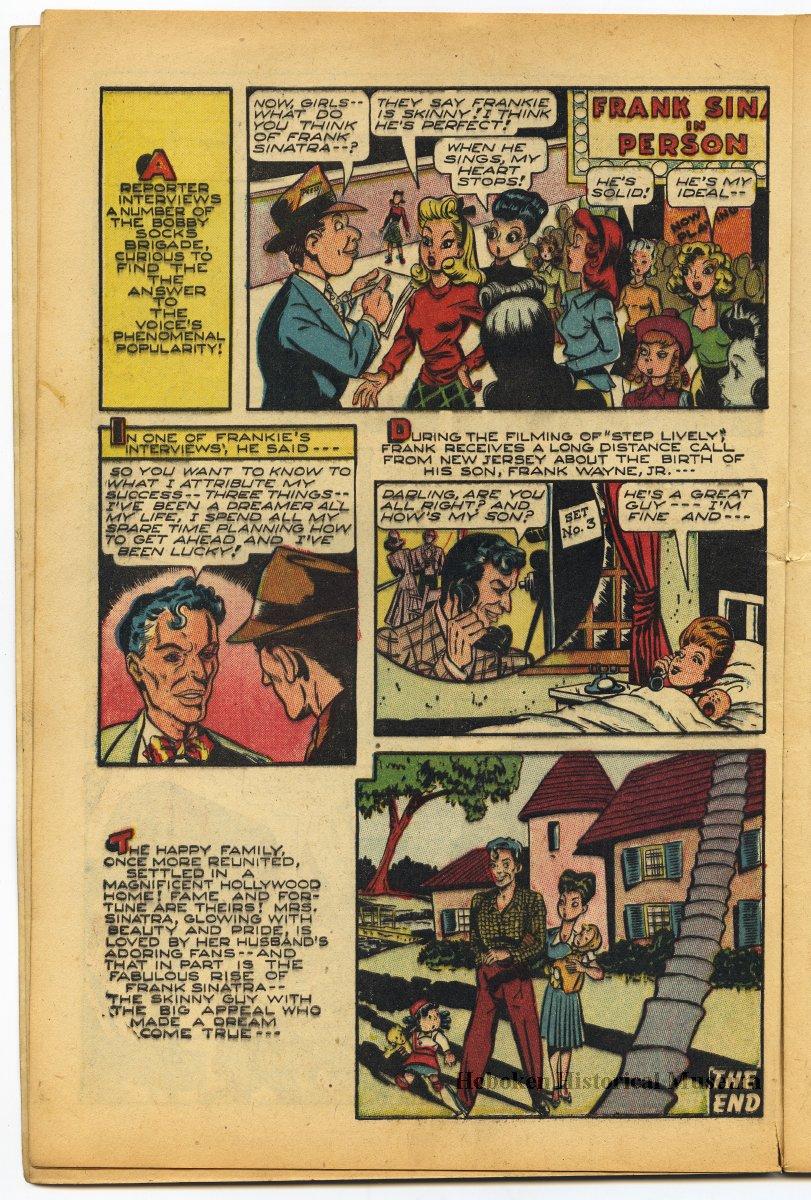 Comic Book Sinatra Story Frank Sinatras Life In Junior