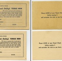 Image of 3: Mailing list cards no. 2 and no. 3