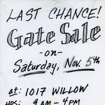 Image of Gate Sale 006