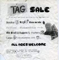 Image of Signs, 45, for gate, yard, sidewalk or moving sales, various places in Hoboken, various dates in 1994.  - Sign