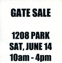 Image of Gate Sale 048