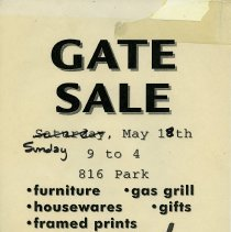 Image of Gate Sale 056