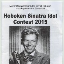 Image of Program: Hoboken Sinatra Idol Contest 2015, Thurs., June 11, 2015. Signed by all performers present. - Program