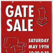 Image of gate sale, 05-19-2001, 621 Willow Ave.