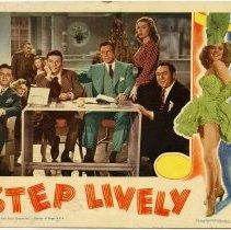Image of Lobby card (Sinatra film): Step Lively. (Frank Sinatra, George Murphy et al.) RKO Radio Pictures, 1944. - Card, Lobby