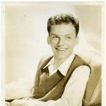 Image of Sinatra photo: Frank Sinatra stock publicity photo promoting CBS radio show, The Frank Sinatra Program, n.p., n.d, ca. 1945-1946.   - Print, Photographic