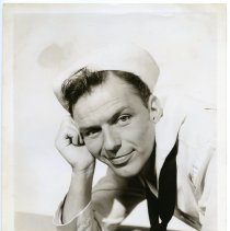"""Image of Frank Sinatra, film still publicity photo from """"On The Town."""" Los Angeles, CA, 1945. - Print, Photographic"""