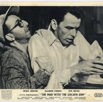 """Image of Lobby card (Sinatra film): """"Man With the Golden Arm."""" United Artists 1955. British issue probably 1956. - Card, Lobby"""