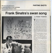 Image of pg 70A Parting Shots; Frank Sinatra's swan song
