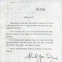 Image of fascimile 2: copy of Samperi introduction with Sinatra inscription