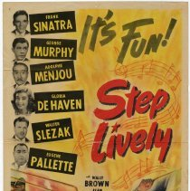 Image of Sinatra film poster: Step Lively. RKO Radio Pictures, 1944. - Poster