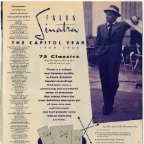 Image of Ad, magazine, Sinatra: Frank Sinatra: The Capitol Years, 1953-1962. In: Pulse (magazine), Nov. 1990. - Ad, Magazine