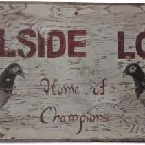 Image of Wooden hand-painted sign: Hillside Loft - Sign