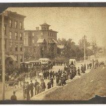 Image of Sepia tone photo: Parade at 10th & Hudson Sts. - Print, Photographic