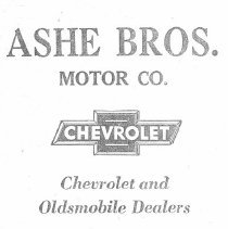 Image of Ashe Bros. Motor Co. advertisement