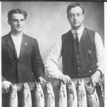 Image of Allred and Jewell with fish catch