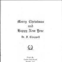 Image of Christmas Poetry by Dr. Chappe