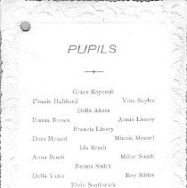 Image of 2005.71.29 - List of pupils