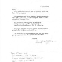 Image of 2007.55.1 - Letter