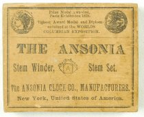 Image of Ansonia pocket watch box